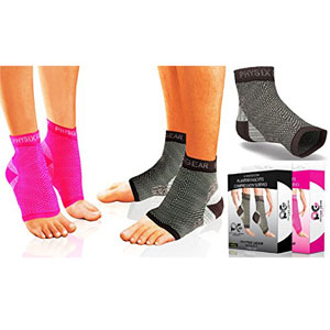Physix Gear Plantar Fasciitis Socks with Arch Support for Men & Women