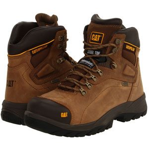 CATERPILLAR MEN'S WATERPROOF STEEL-TOE WORK BOOT
